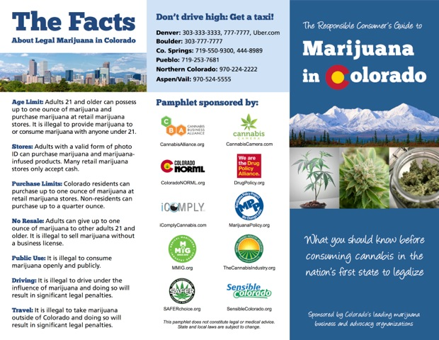 Colorado Legalization Brochure